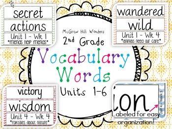 vocabulary words for 2nd grade
