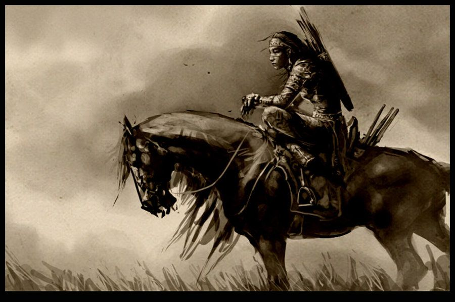 """""""A spiritual warrior's life is an endless challenge, and challenges cannot possibly be good or bad. The basic difference between an ordinary person and a warrior is that a warrior takes everything as a challenge, while an ordinary person takes everything as a blessing or a curse."""" ~ """"The Teachings of Don Juan"""" by Carlos Castaneda (Artwork: """"Woman Warrior"""" by bitrix-studio.deviantart.com on @deviantART)"""