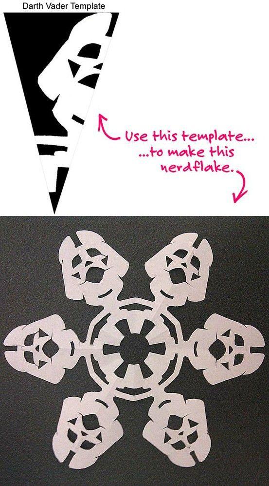 Darth Vader snowflake. Must. Make. | artsy fartsy hit em with a ...