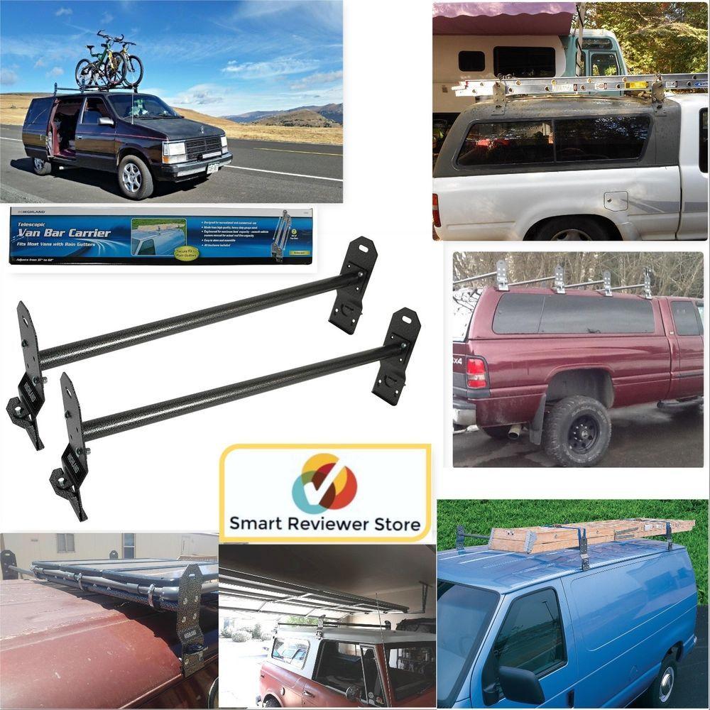 Van Roof Rack 2 Steel Bar Black Vans Ladder Heavy Duty