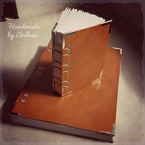 ardeas / Hrdzavá líška (sada kožených zápisníkov A5   A7) / bookbinding / leather journal
