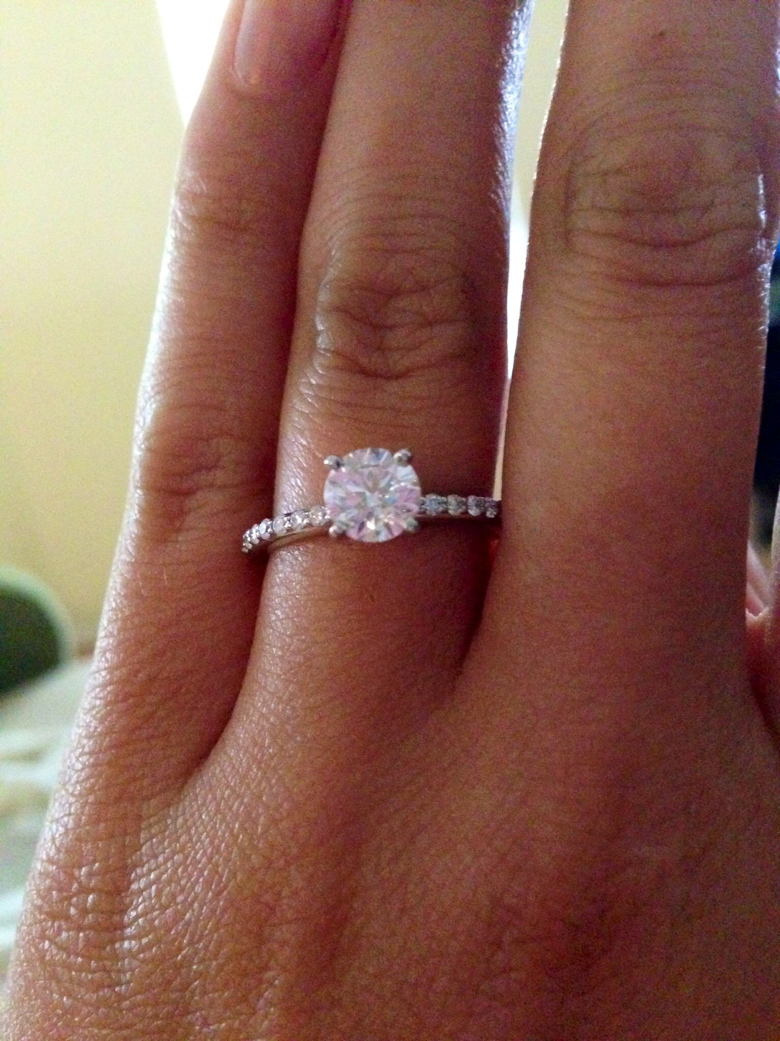 brilliant earth wedding bands My Brilliant Earth engagement ring I love it So sparkly