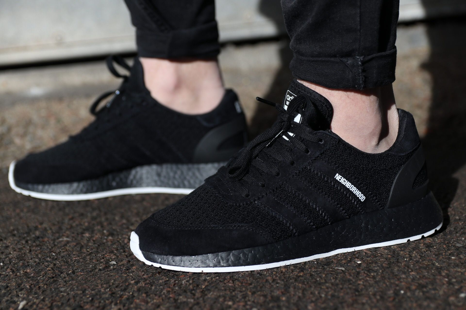 3c92942f4f521 Adidas x Neighbourhood I-5923 (Iniki) runners on-feet.