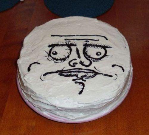 Rage comic cake!(: