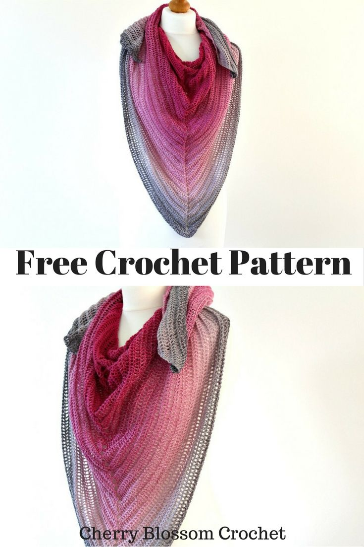Hello! I have a fun crochet project for you this week, a gradient ...