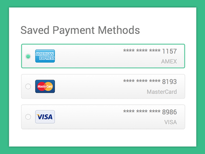 Saved Payment Methods Credit Card App Small Business Credit Cards Credit Card Website