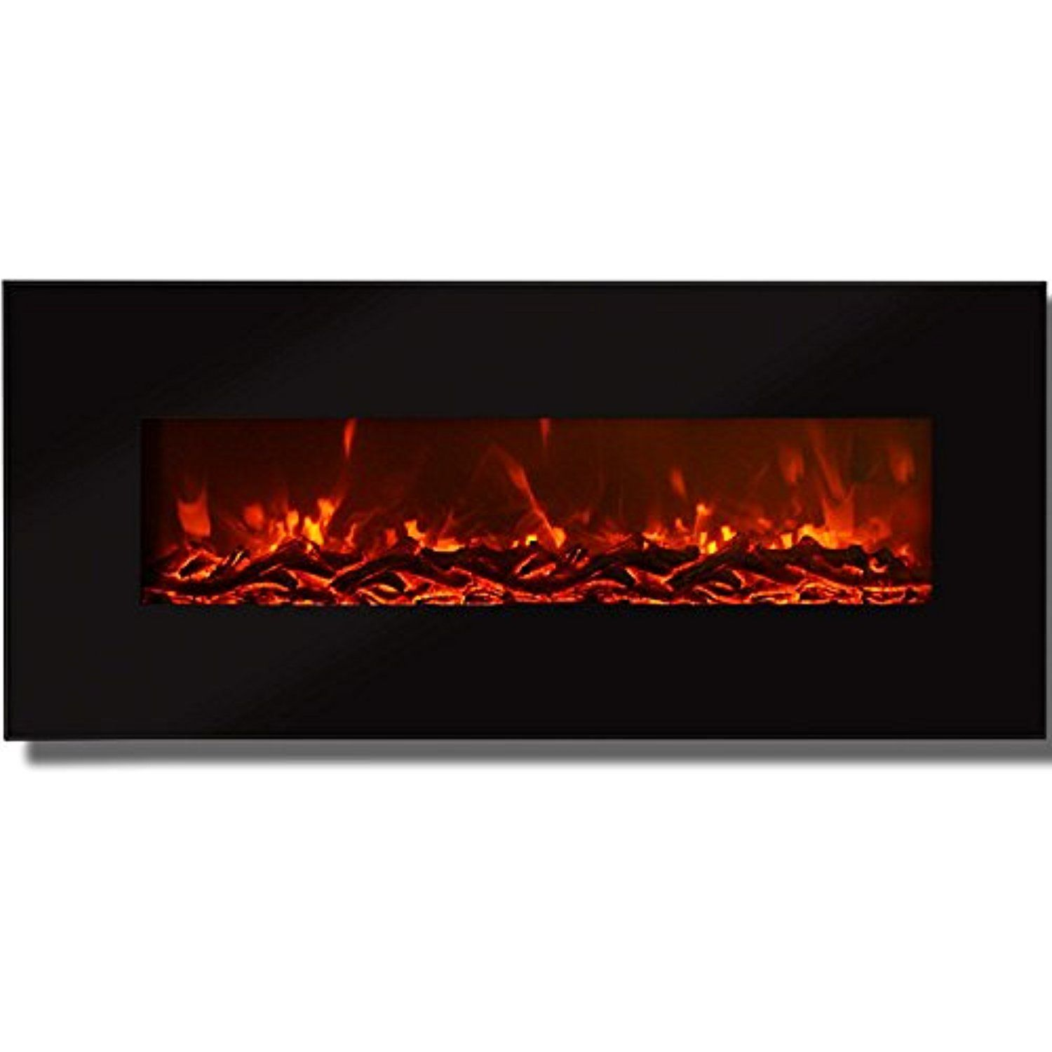 Regal Flame Valencia Black 50 Log Ventless Heater Electric Wall