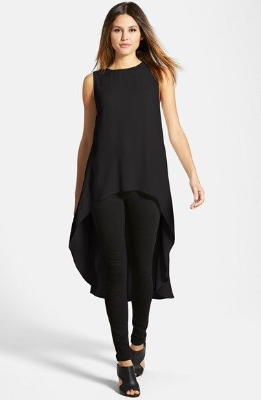 201df4735d2 Eileen Fisher Sleeveless Silk High/Low Tunic Nordstrom | casual ...