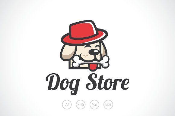 Cute Dog Store Logo Template Logo Templates Pet Shop Logo Dog