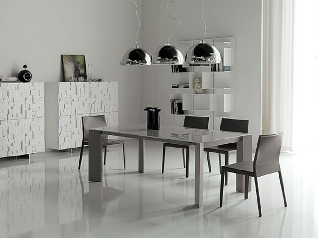 Simple Minimalist Dining Room In Modern Table Set For Kitchen