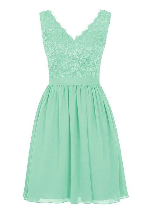 Angel Formal Dresses Womens V Neck Lace Dress Bridesmaids Dress