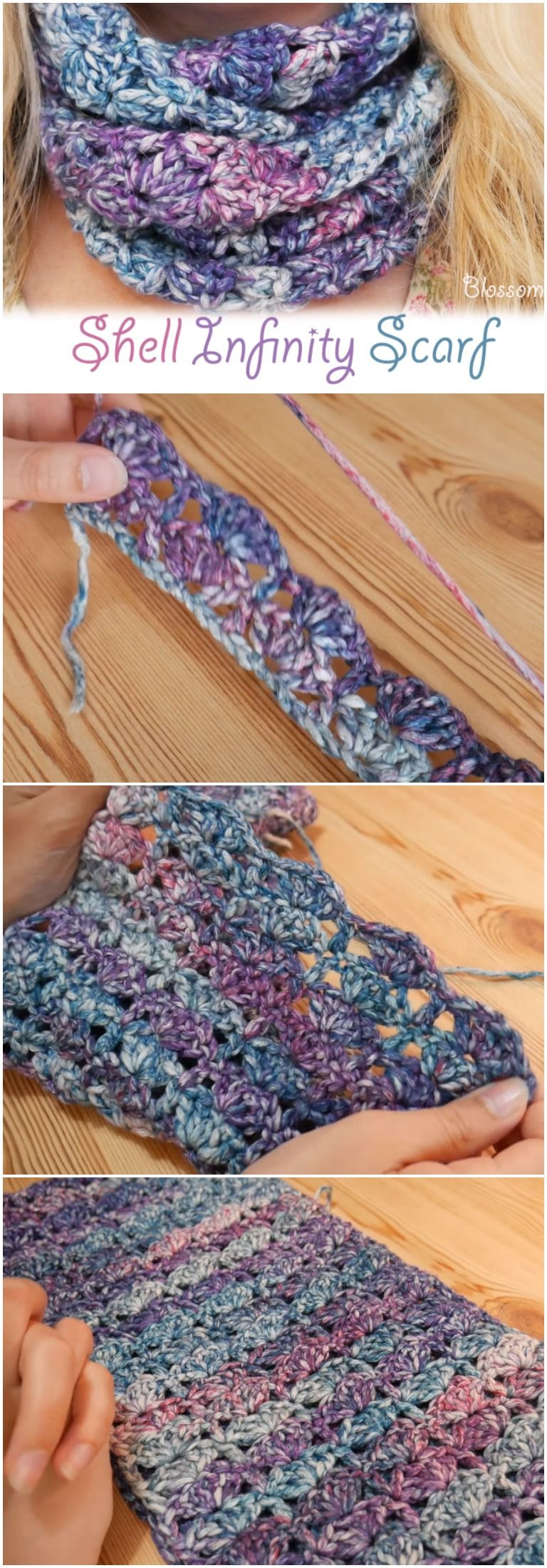 Crochet Shell Infinity Scarf Free Instructions | crochet collection ...