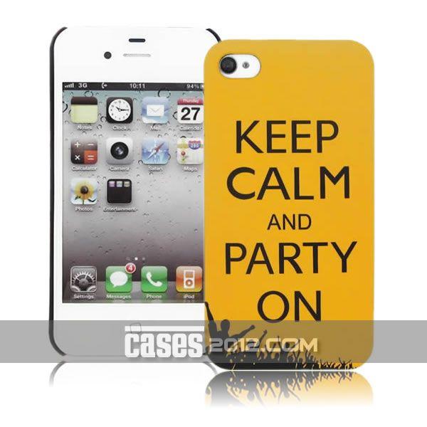 iPhone 4 4s Hard Case - Keep Calm Go To
