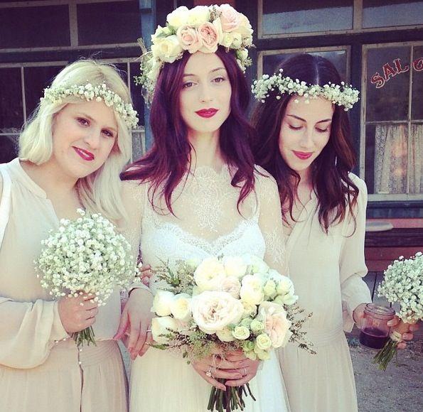wedding hair flower crown