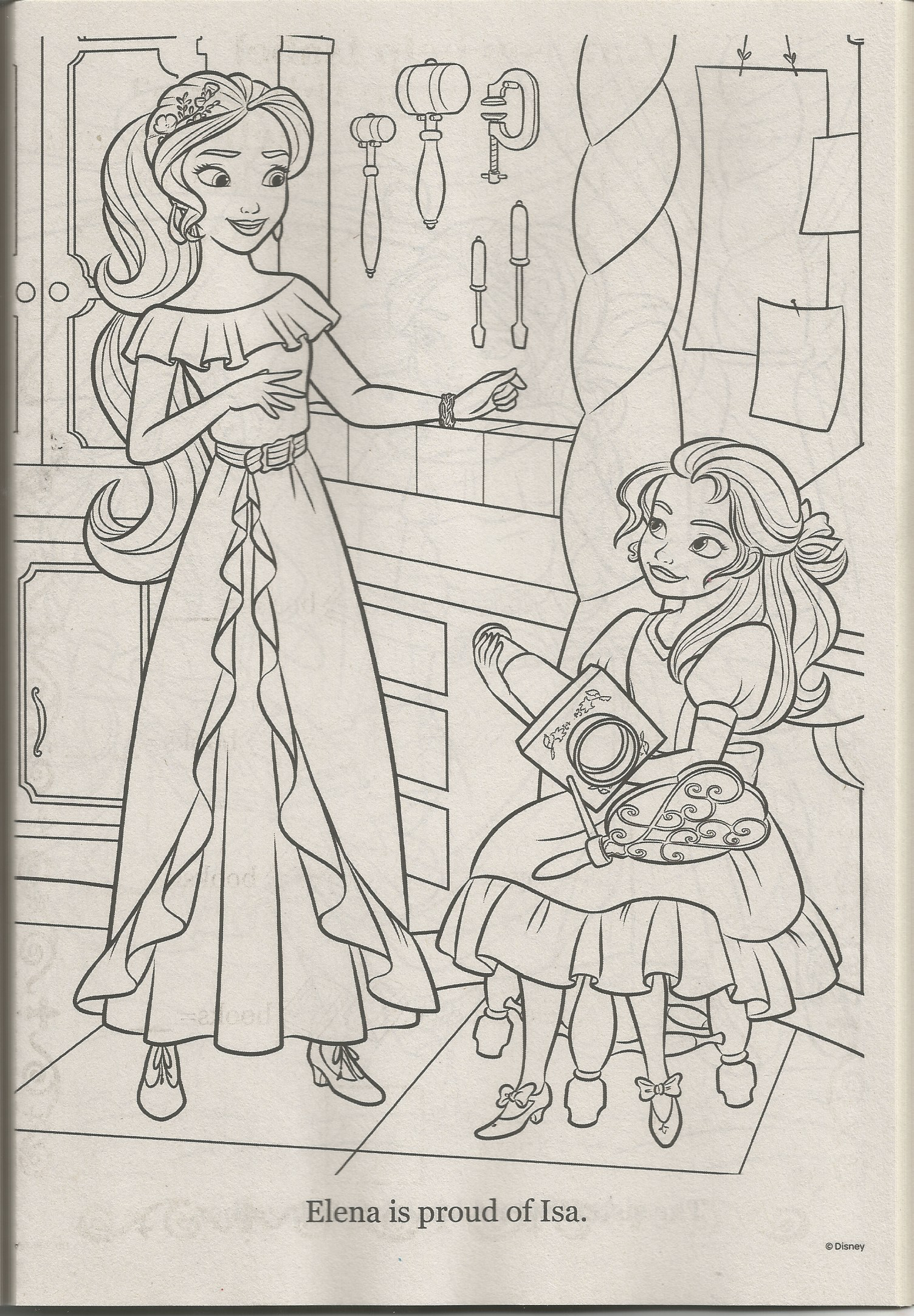 Elena Of Avalor Coloring Page Coloring Pages Fan Art Kid Movies [ png ]
