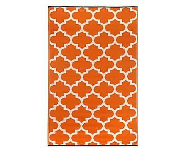 In- & Outdoor-Wende-Teppich Tammy, orange/weiß, 150 x 240 cm