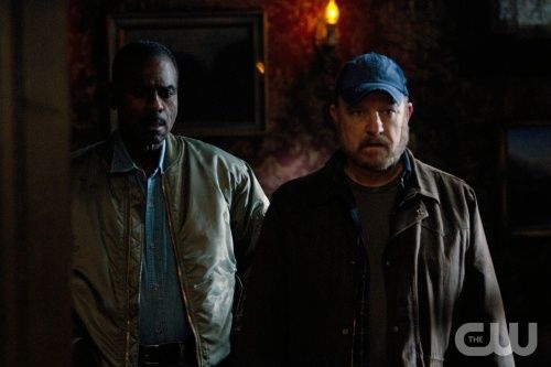 """""""Death's Door"""" - (L-R): Steven Williams as Rufus Turner and Jim Beaver as Bobby Singer in SUPERNATURAL on The CW. Photo: Michael Courtney/The CW©2011 The CW Network, LLC. All Rights Reserved."""