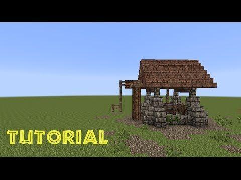 Minecraft Tutorial Einen Brunnen Bauen Build A Well YouTube - Minecraft haus aus wasser bauen