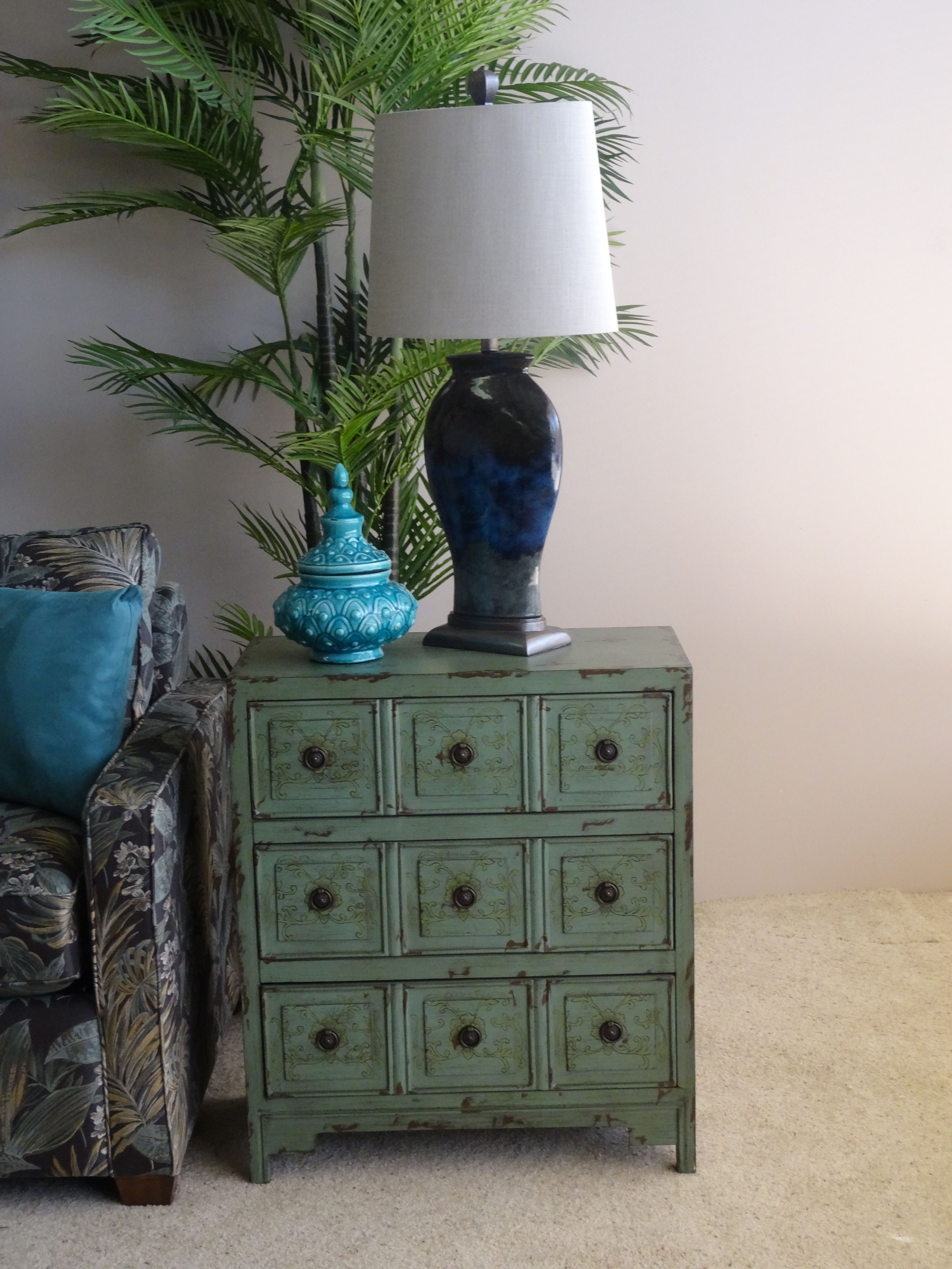 Turquoise Accent Cabinet | Cabinets & Bookcases | Pinterest