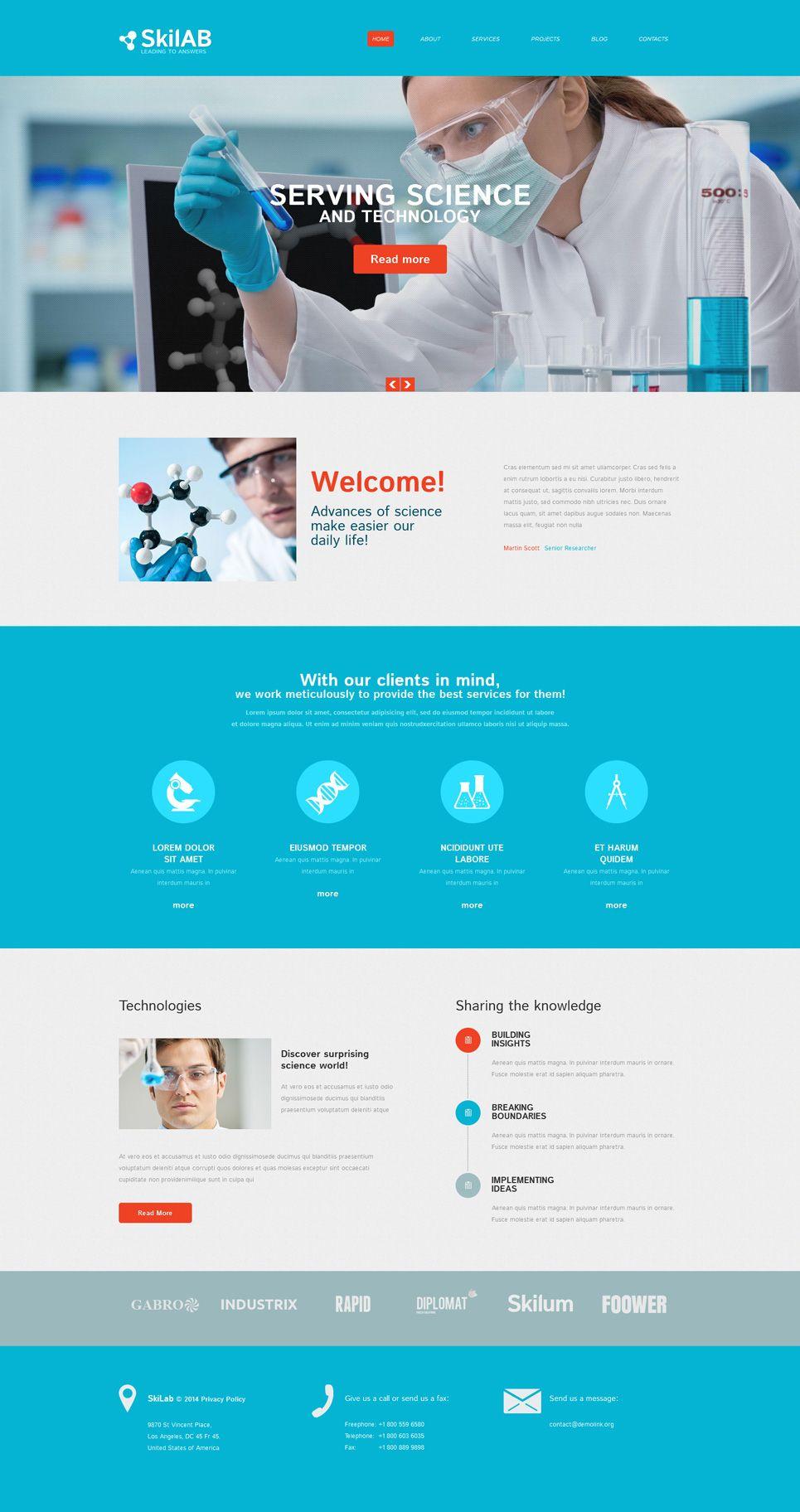 Science Lab Responsive Drupal Template Lab Science Responsive Template Web Development Design Web Design Software Medical Design