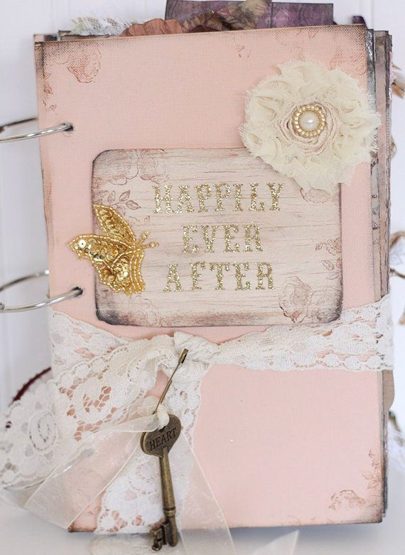 Peach Happily Ever After Fairytale Wedding Guestbook Fairy Tale