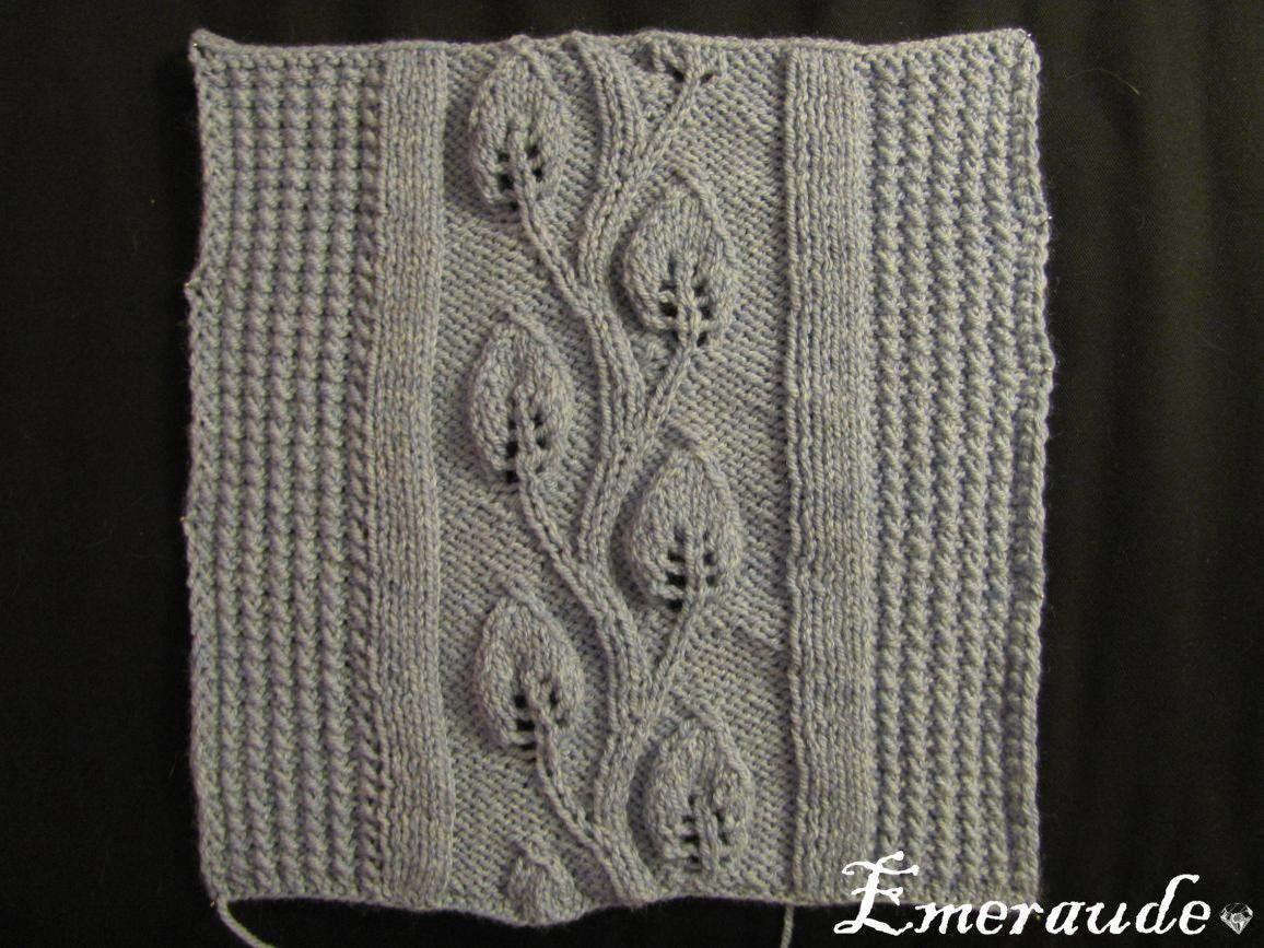 tuto plaid tricot irlandais