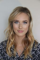 Photo of Ehrfürchtiges Hochzeits-Make-up für blaue Augen-Brown-Haar – Neu Frisuren Stil…