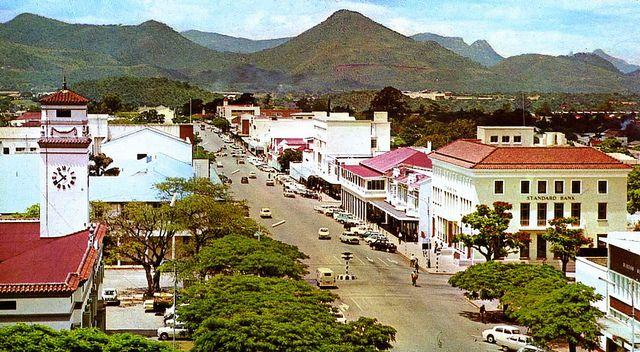 Umtali Rhodesia Mutare Zimbabwe Main street Zimbabwe and Africa