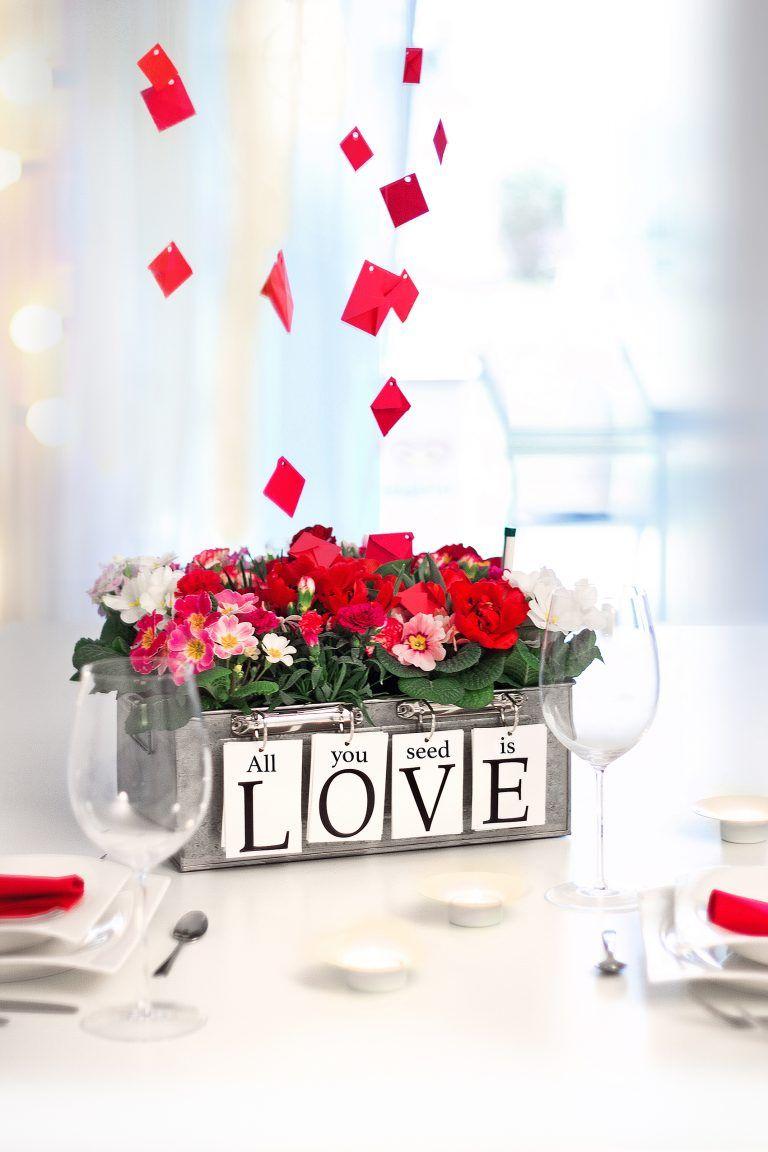 Blumige Liebeserklarung Zum Valentinstag Diy Ideen Diy Love