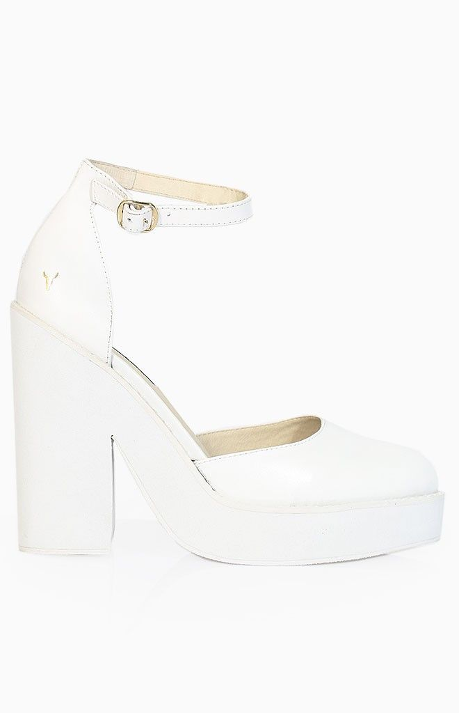 Windsor Smith Pow Heels White