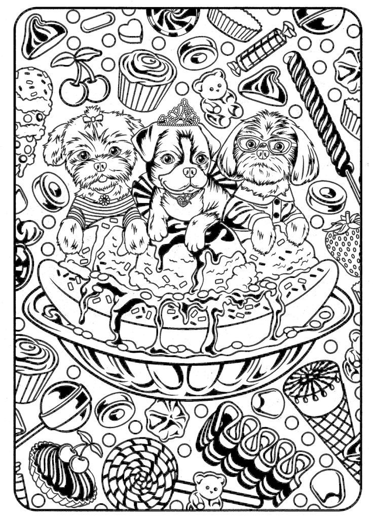 Lisa Frank coloring pages Color Me Puppy Pinterest Lisa