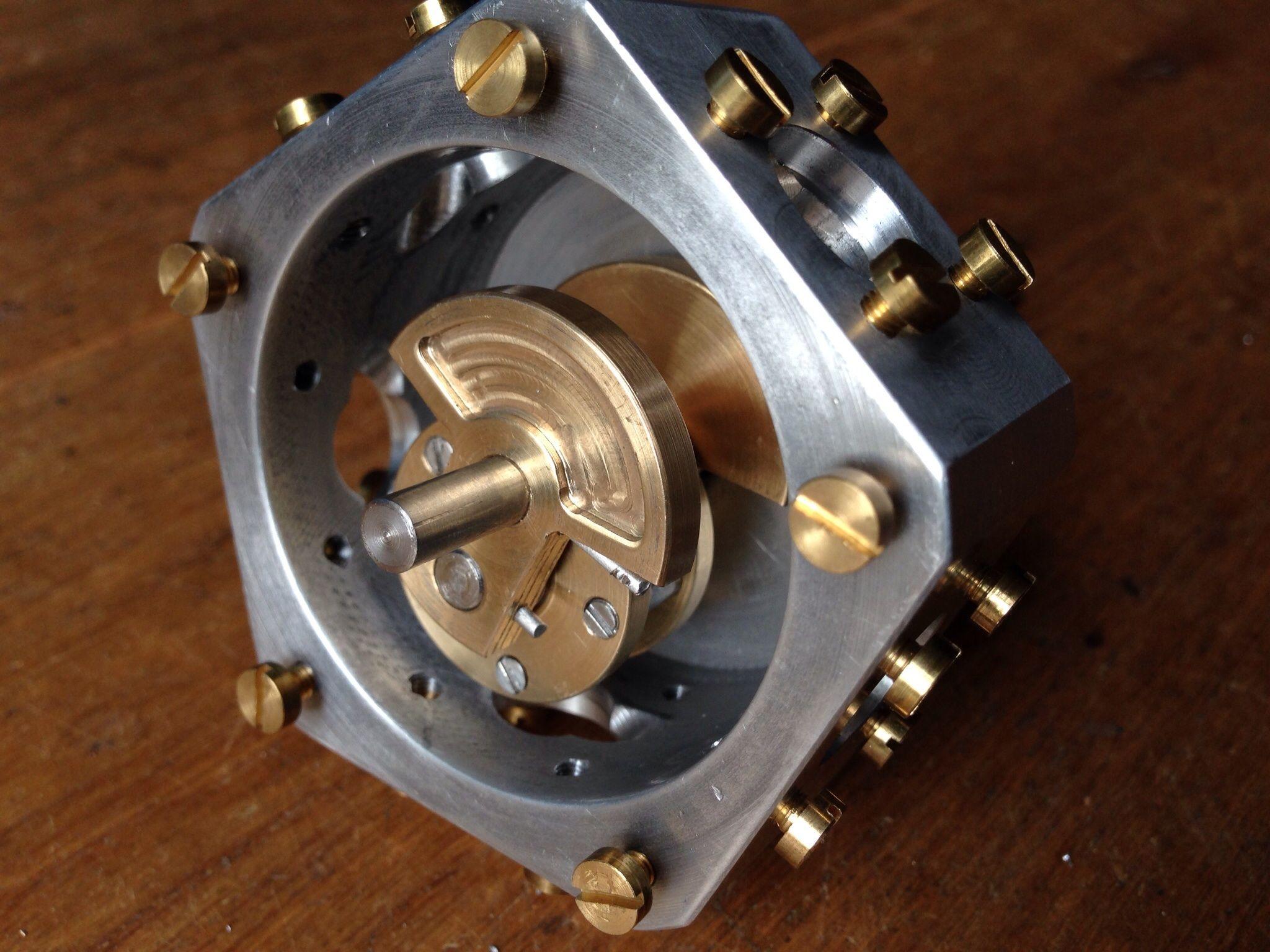Radial Five Cylinder Stirling Engine Internal Details