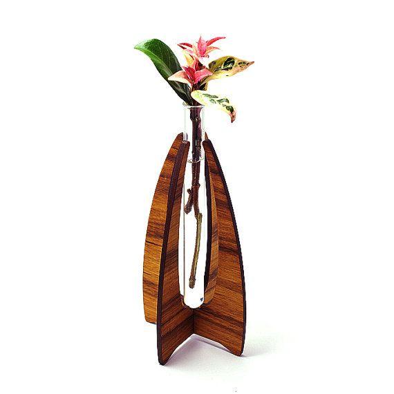 Closing down sale curved wood vase bud vase test tube for Test tube vase