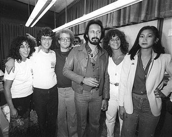 Bass player John Entwistle meets and greets fans attend a screening of the documentary film 'The Kids Are Alright' about the rock and roll band 'The Who' which was released on June 15, 1979 in Los Angeles, California.