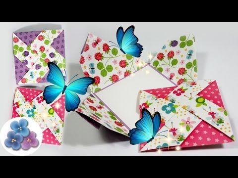 Tarjetas de Cumpleaños Creativas Molinillo de Papel Manualidades - tarjetas creativas