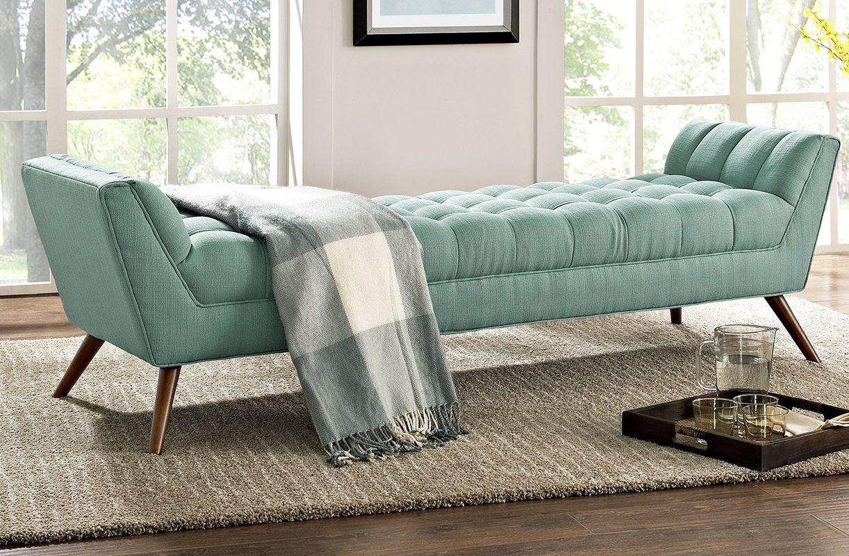 Freeborn Upholstered Bench Reviews Allmodern Upholstered Bench Modern Furniture Living Room Living Room Modern Living room upholstered bench