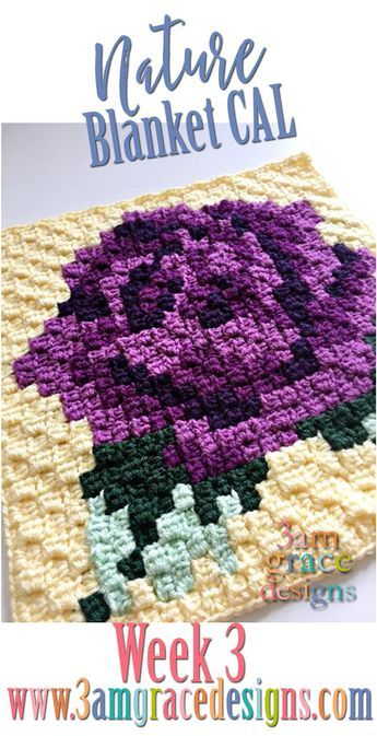 Nature Blanket C2c Cal Week 3 Free Crochet Blanket And Corner