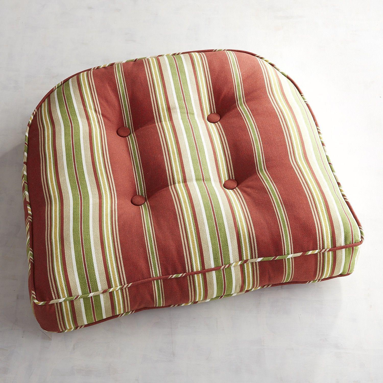 Contour Chair Cushion In Sullivan Stripe