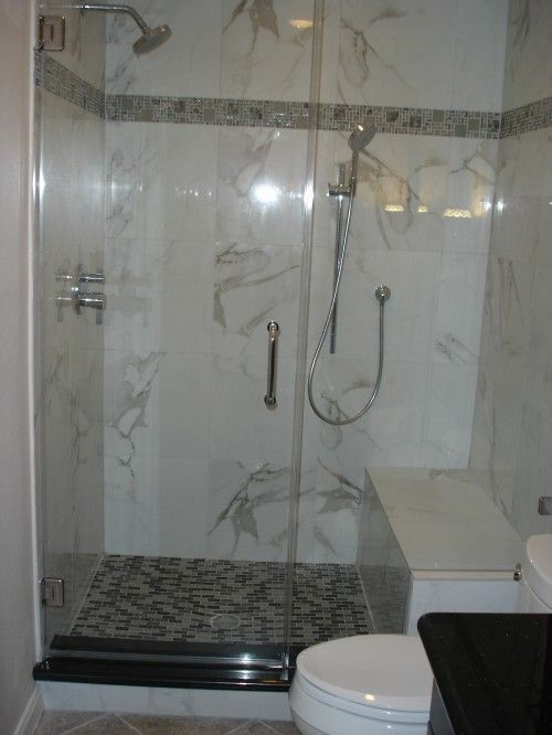Placement Of Handheld Shower With Bench From Houzz With Images