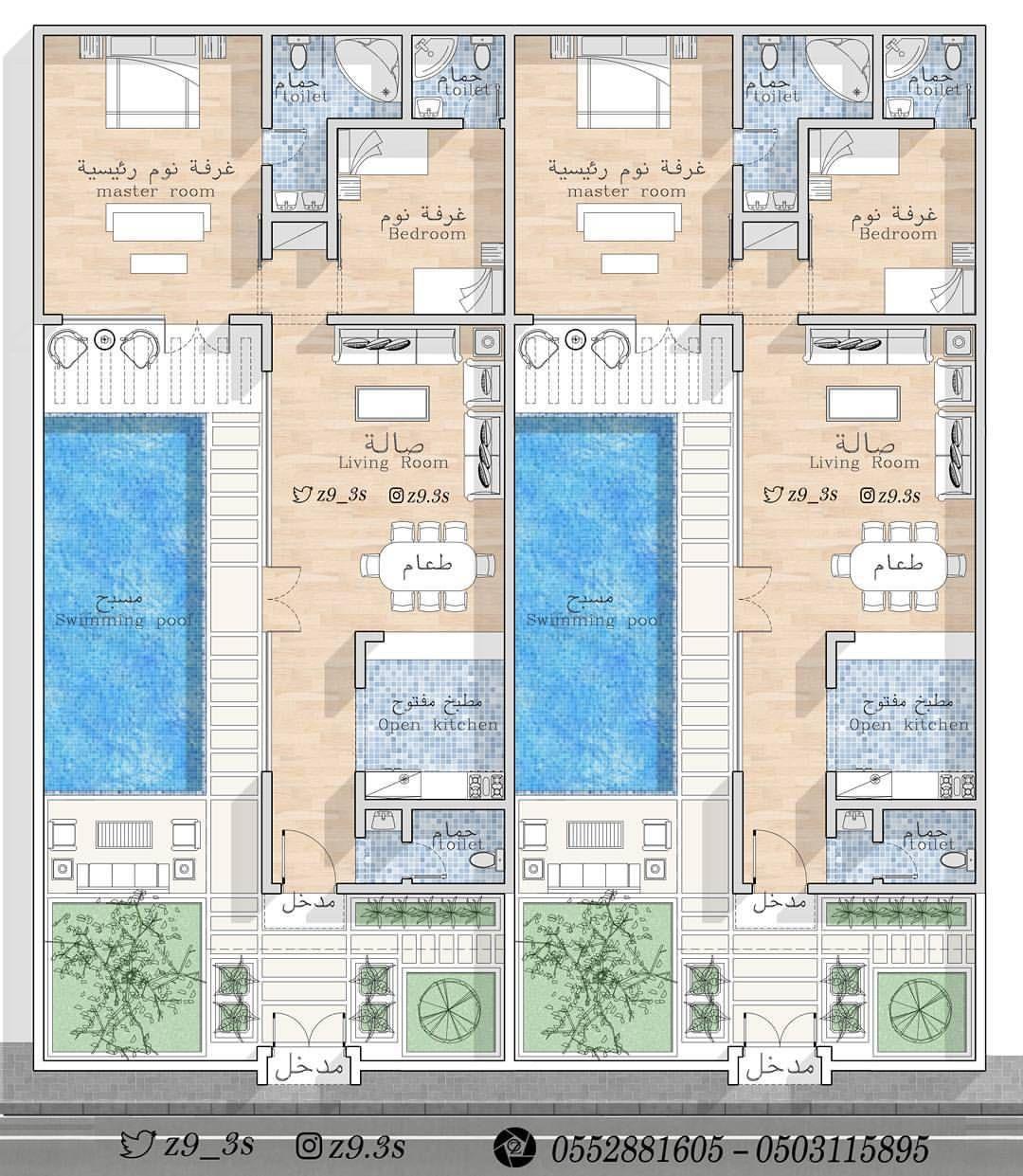المدينة المنورة مخططات الرياض مخطط الشرقية فلل فيلا كروكي بيت مكة منزل منزلي جازان ابها ا Pool House Plans Floor Plans Architectural House Plans