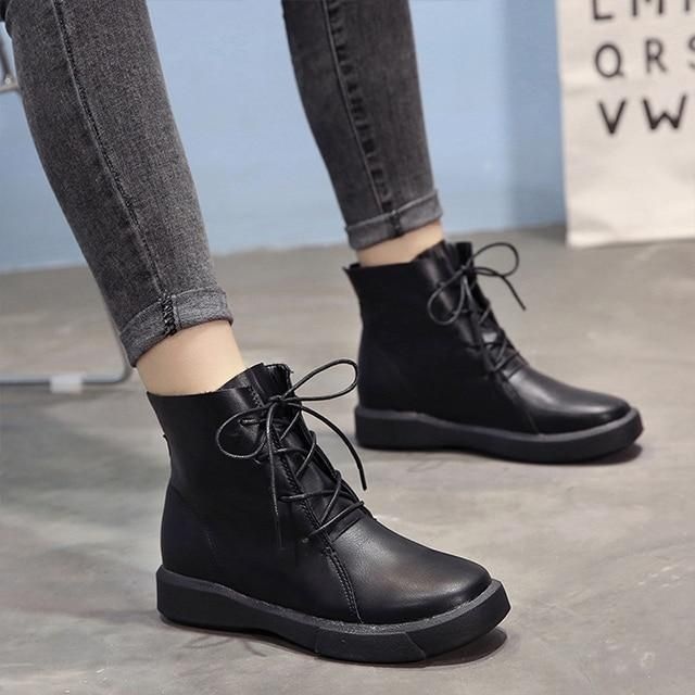 Shoes Leather Boots Ladies Shoes