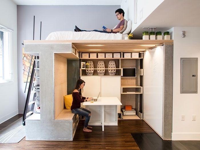 1001 Idees Deco Et Astuces Gain Place Pour L Amenagement Studio 20m2 Amenagement Studio 20m2 Amenagement Studio Petit Appartement