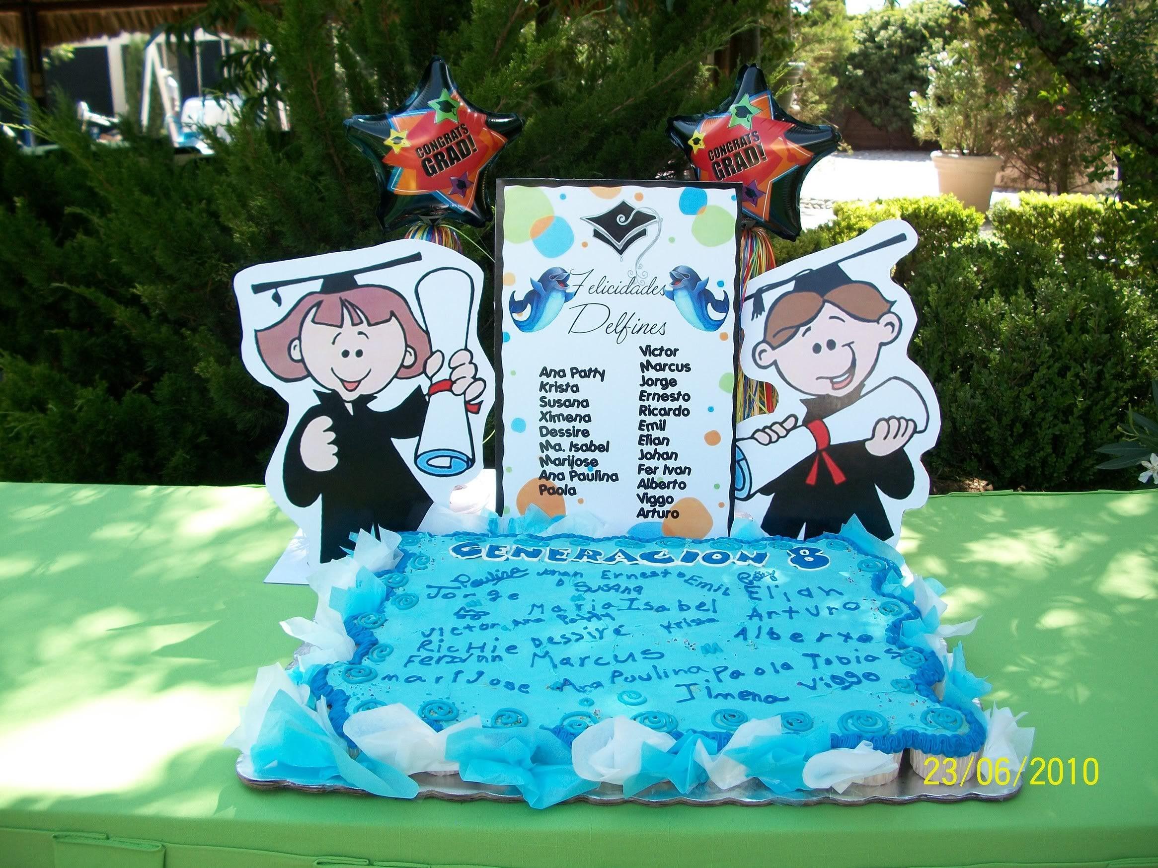 Decoracion para graduacion hola a todos nuestros - Decoracion fiesta jardin ...
