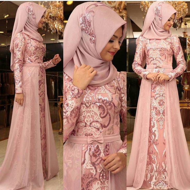 Long evening dress/ Turkish evening dress ,islamic dress | Hijab ...