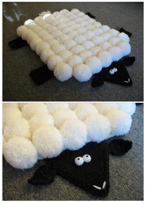 Patrones Crochet: Alfombra de Pompones Idea