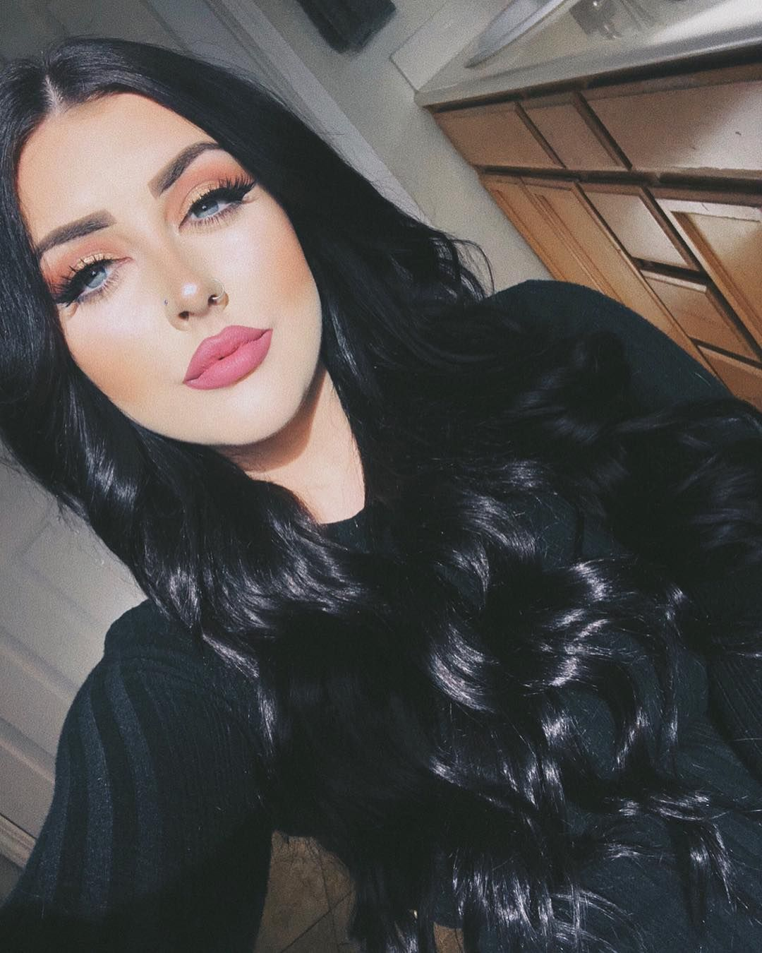 goodnessshespurrty) amber danielle | black hair makeup, hair