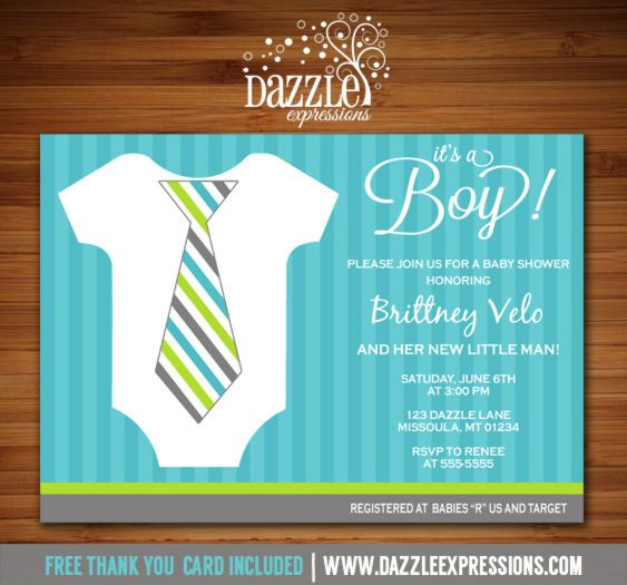 Printable Little Man Onesie With Tie Baby Shower Invitation | Gentleman  Shower | Baby Boy |
