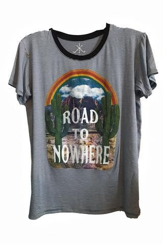 Road To Nowhere Roxbury Tee | Future closet | Tees, Blue stripes