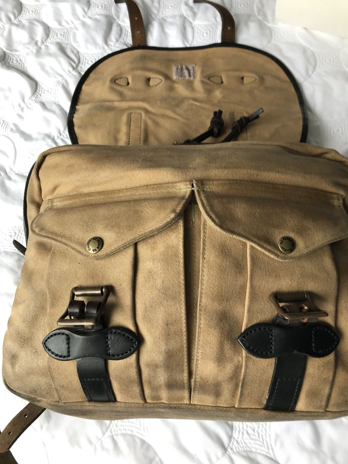 67941d72d5 Filson Vintage Small Carry On Bag 240 Amazing Customized Feature ...