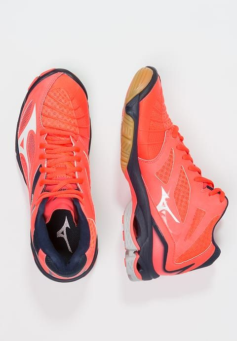 Mizuno WAVE LIGHTNING Z3 - Volleyball shoes - fiery coral/white/dress blues  for